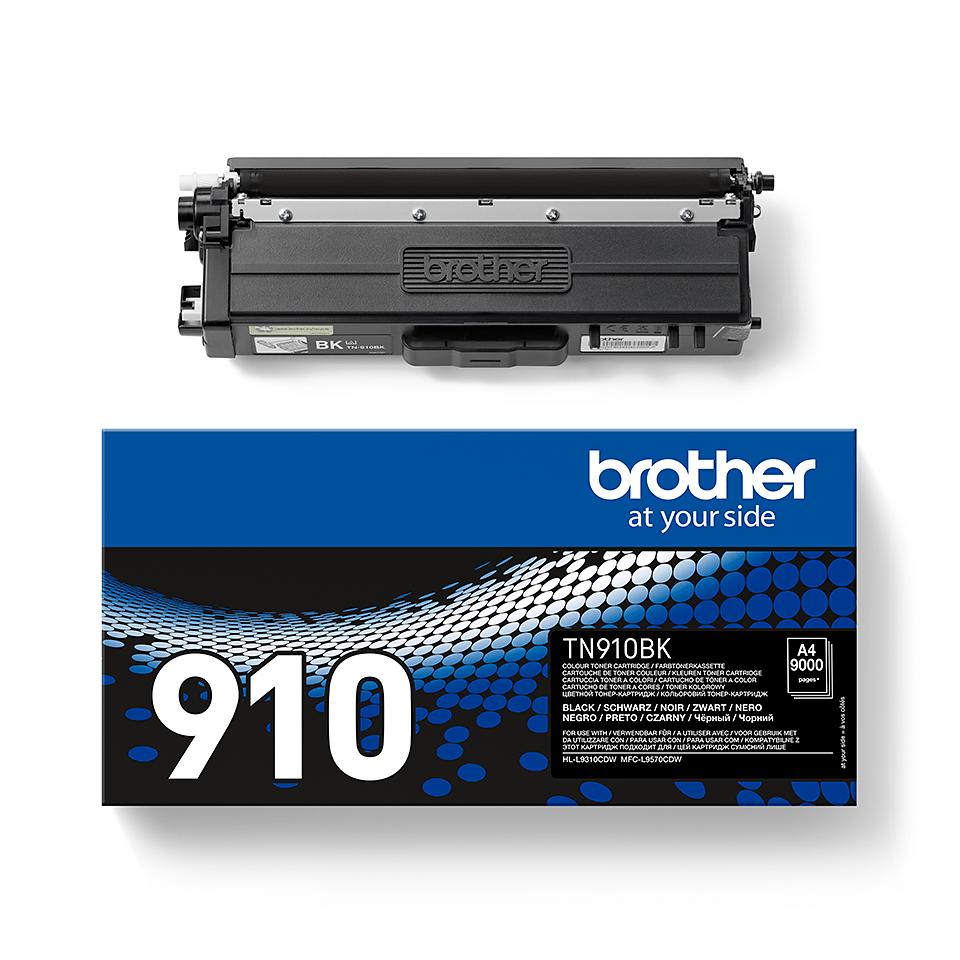 Eredeti Brother TN910BK festékkazetta - fekete 2