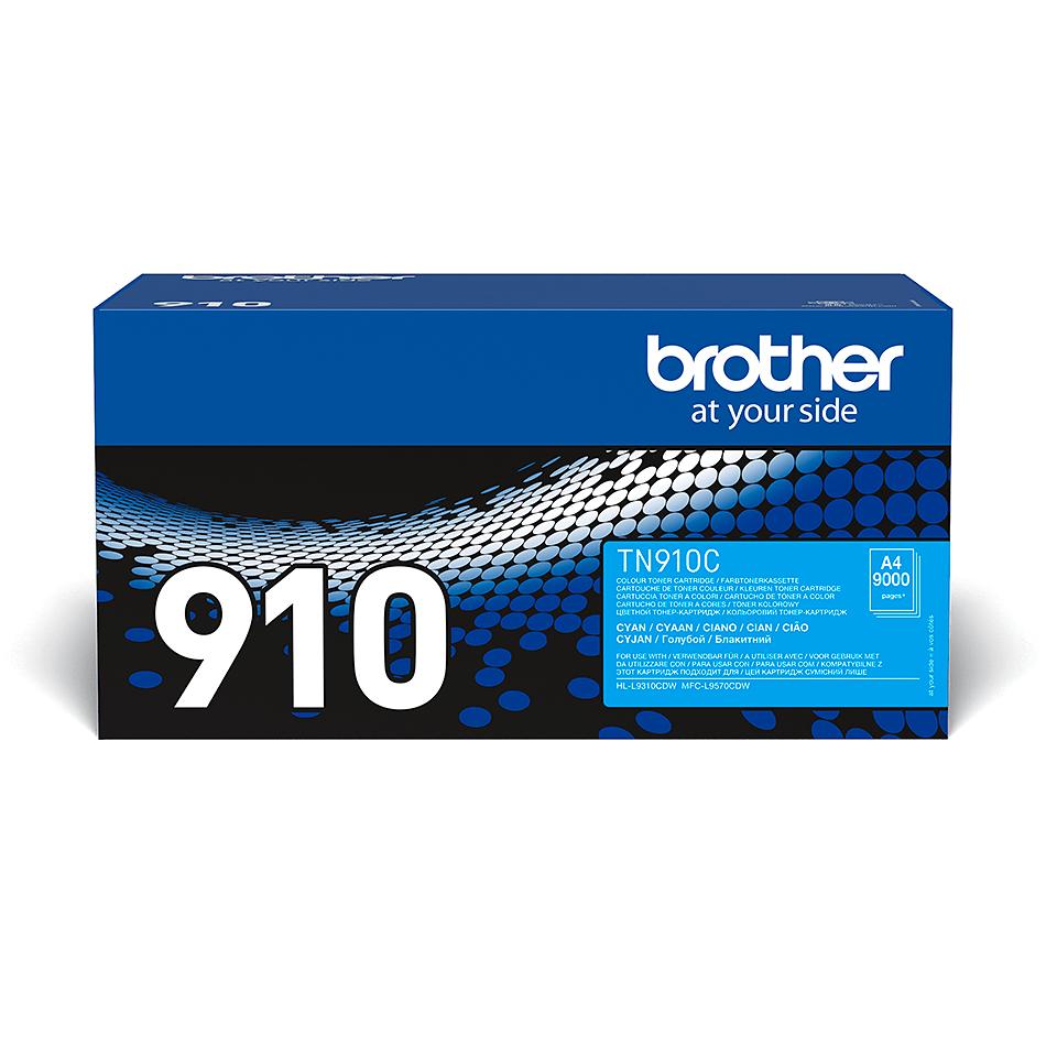 Eredeti Brother TN910C festékkazetta - ciánkék