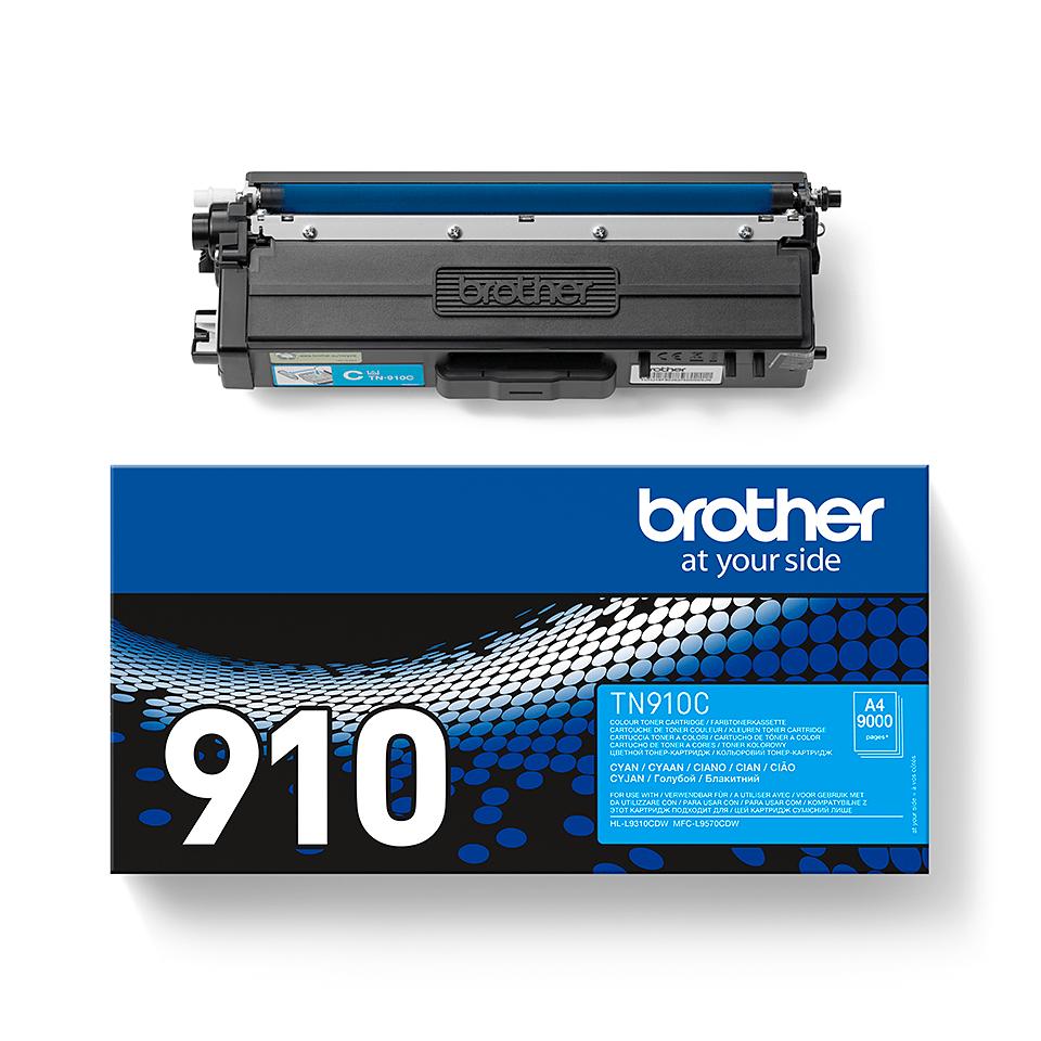 Eredeti Brother TN910C festékkazetta - ciánkék 2