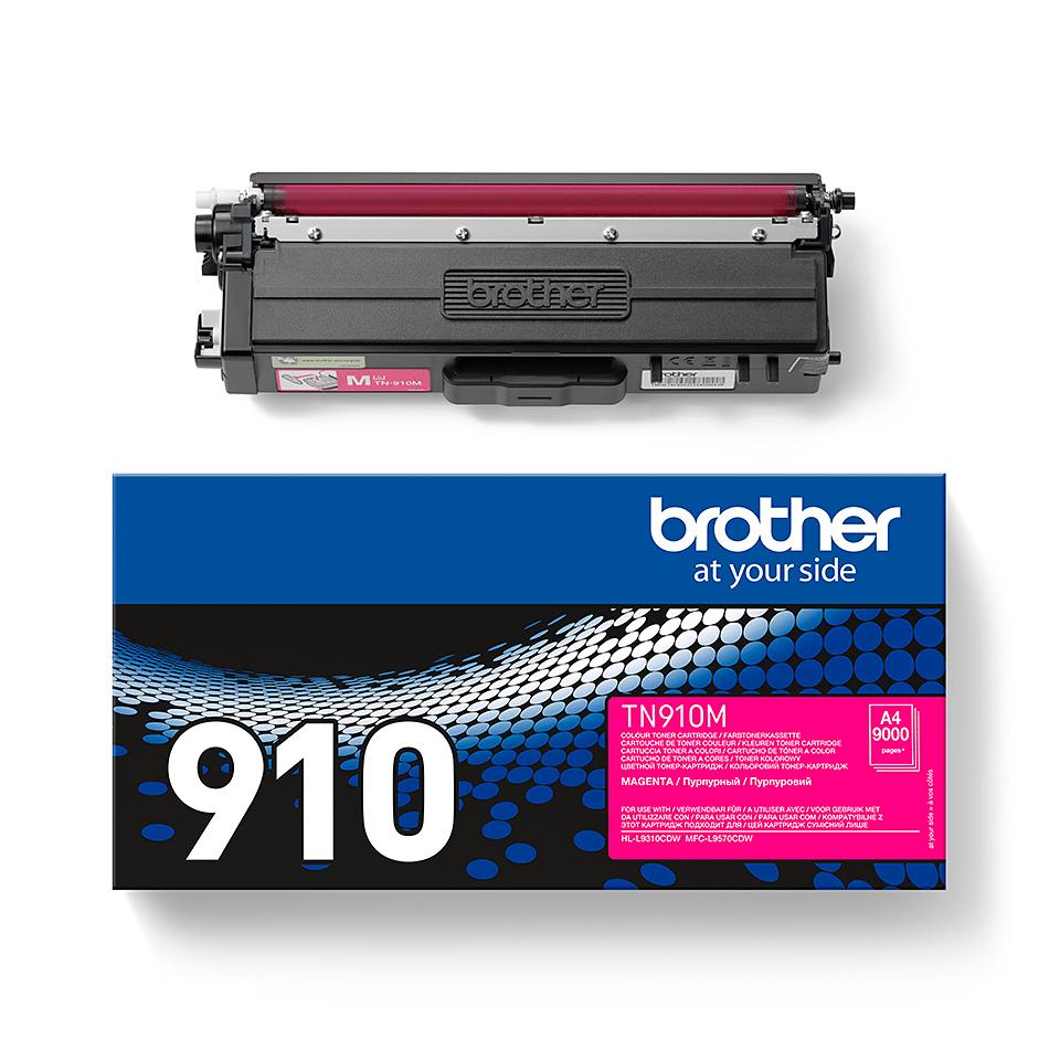 Eredeti Brother TN910M festékkazetta - magenta 2