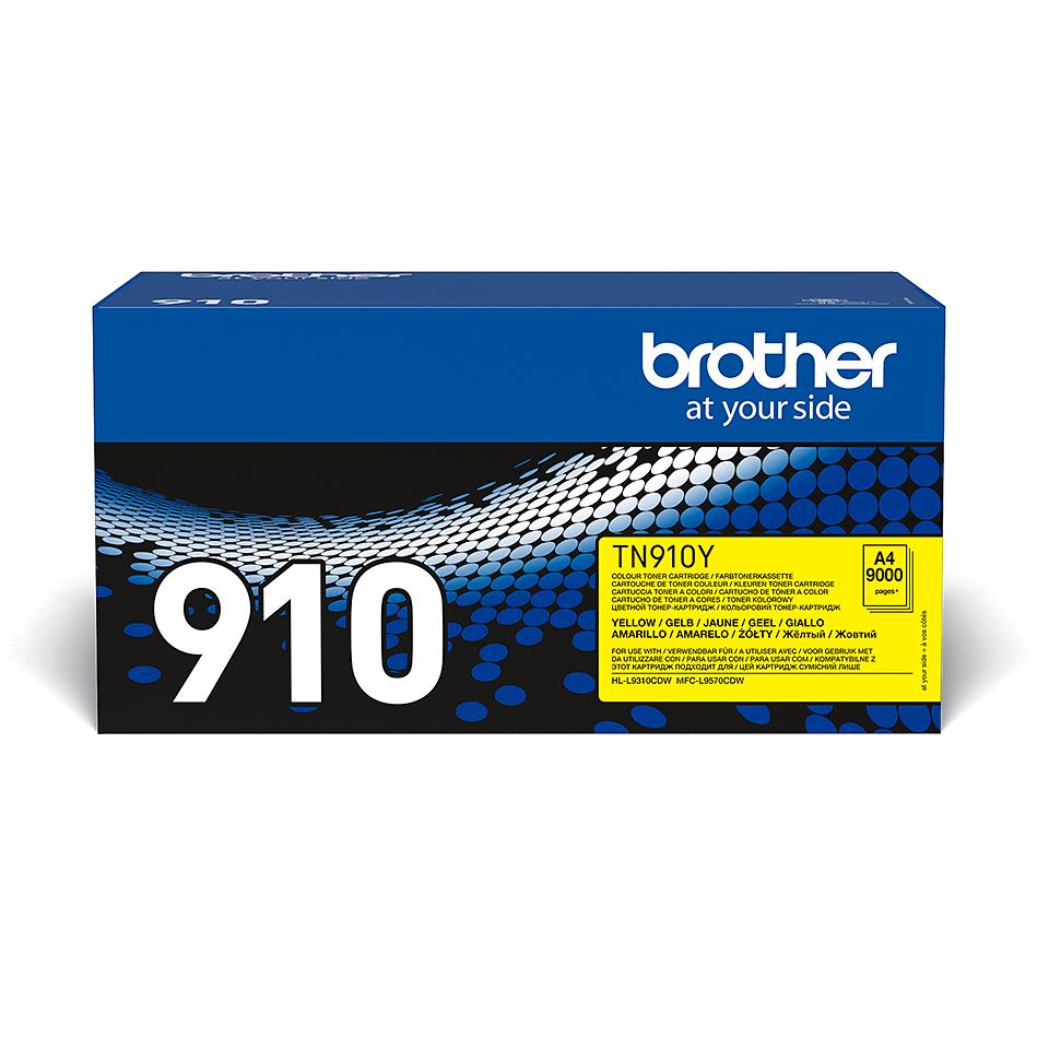 Eredeti Brother TN910Y festékkazetta - sárga