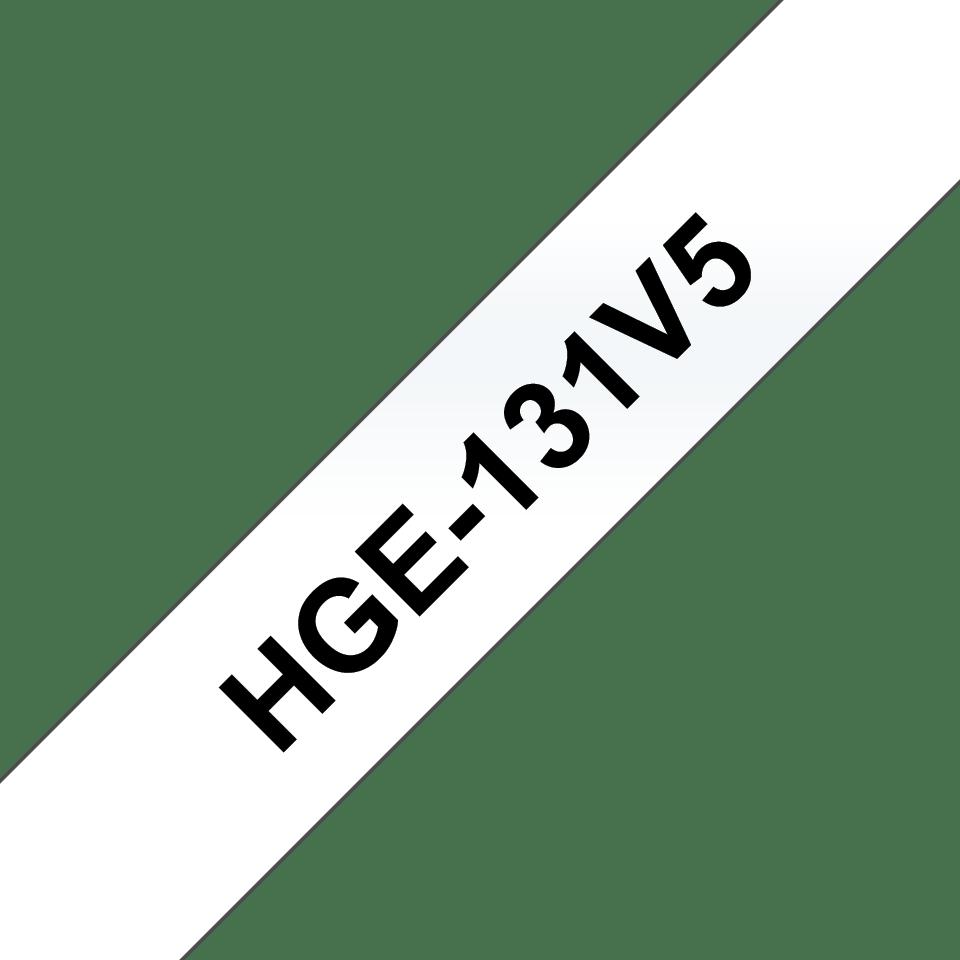 Eredeti Brother HGe-131V5 szalag– átlátszó alapon fekete, 12mm széles