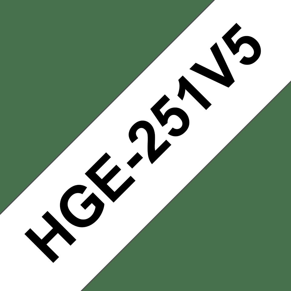 Eredeti Brother HGe-251V5 szalag – Hehér alapon fekete, 24mm széles