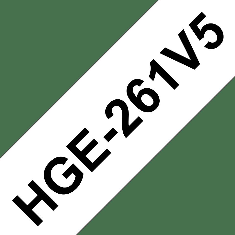 Eredeti Brother HGe-261V5 szalag – Fehér alapon fekete, 36mm széles