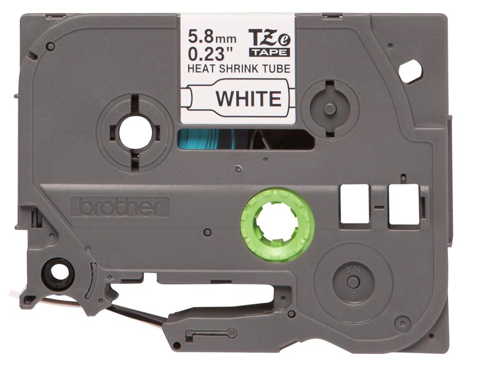 Eredeti Brother HSe-211 zsugorcsöves szalag – Fehér alapon fekete, 5.8mm széles
