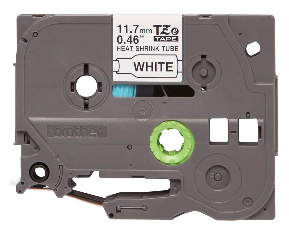 Eredeti Brother HSe-231 szalag tekercsben  – Fehér alapon fekete zsugorcsöves szalag, 11.7mm