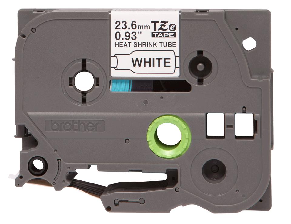 Eredeti Brother HSe-251, zsugorcsöves szalag tekercsben  – Fehér alapon fekete, 23.6mm széles