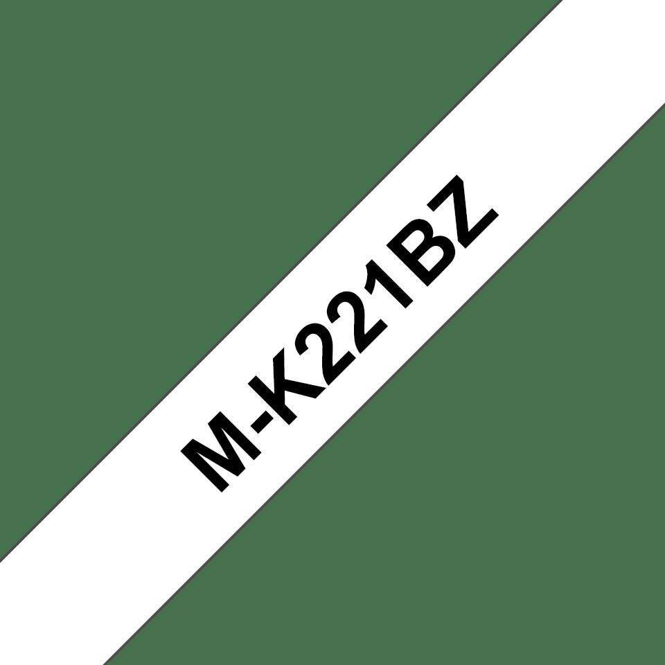 Eredeti Brother M-K221BZ szalagkazetta – Fehér alapon fekete, 9mm széles