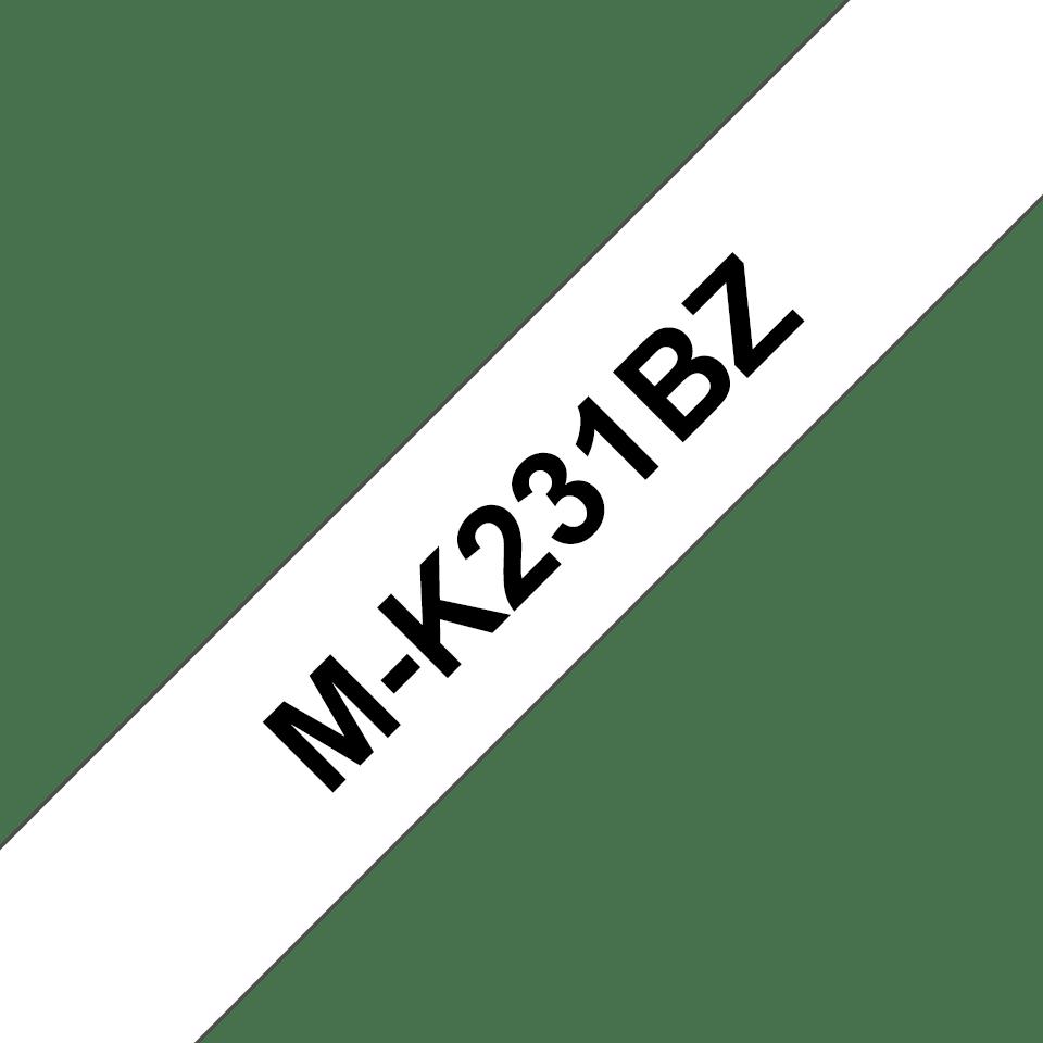 Eredeti Brother MK231BZ szalag - fehér alapon fekete, 12 mm széles