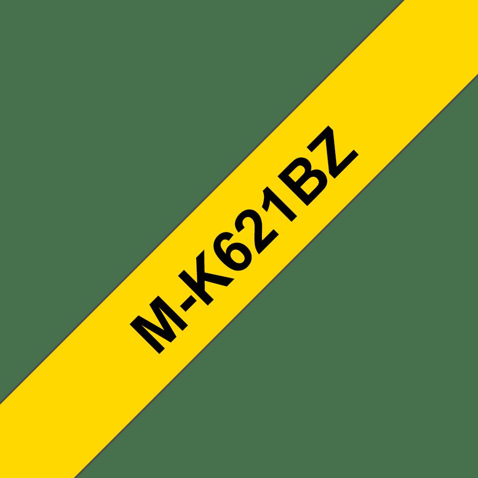 Eredeti Brother MK621BZ szalagkazetta - sárga alapon fekete, 9 mm széles