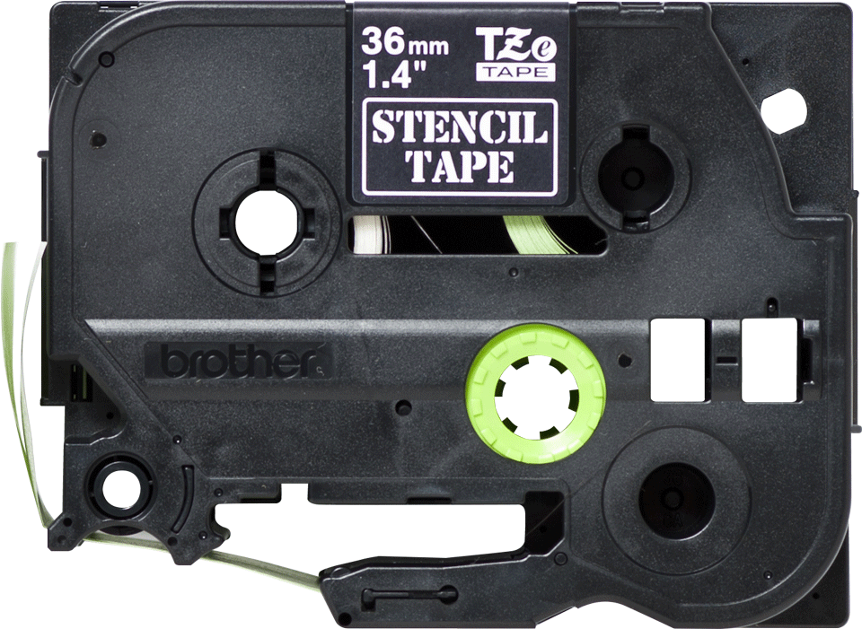 Eredeti Brother STe-161 stencil szalag – Fehér alapon fekete,  –  36mm széles