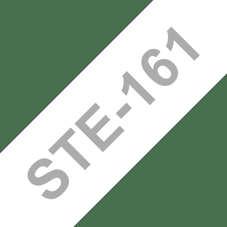 Eredeti Brother STe-161 stencil szalag – Fehér alapon fekete,  –  36mm széles 3