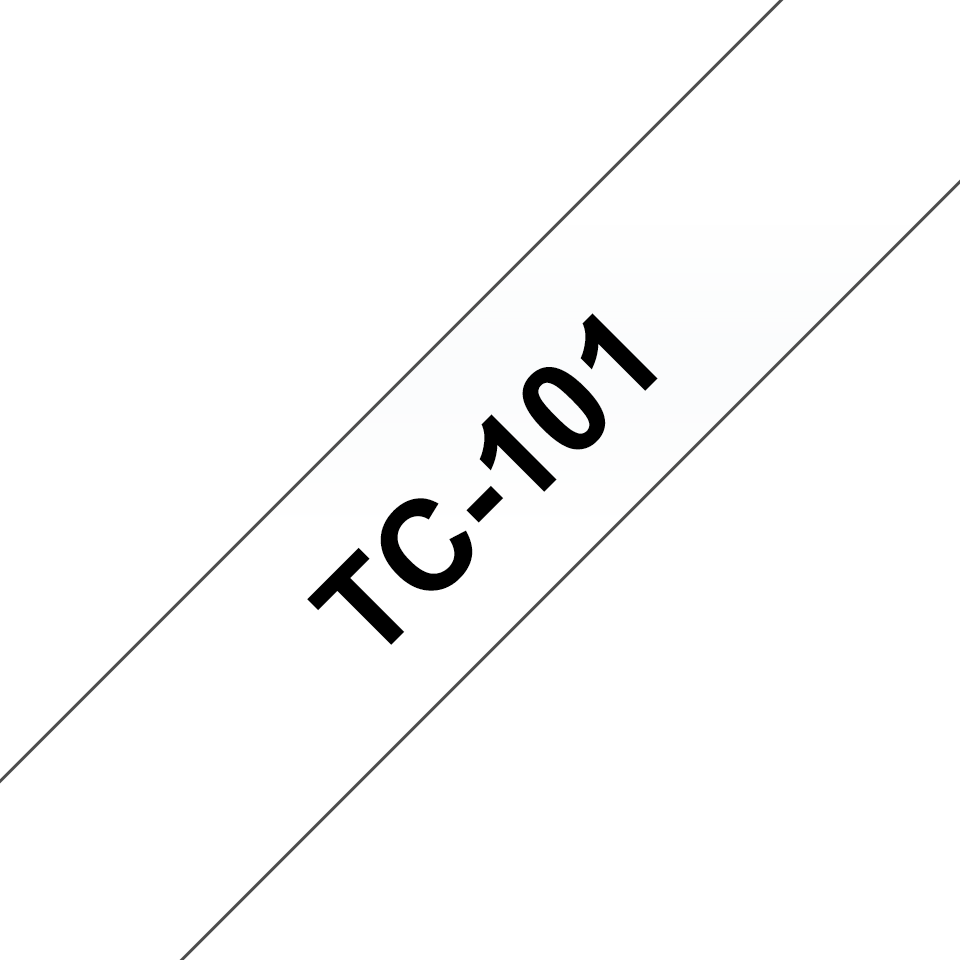 Eredeti Brother TC101 szalagkazetta - átlátszó alapon fekete, 12 mm széles