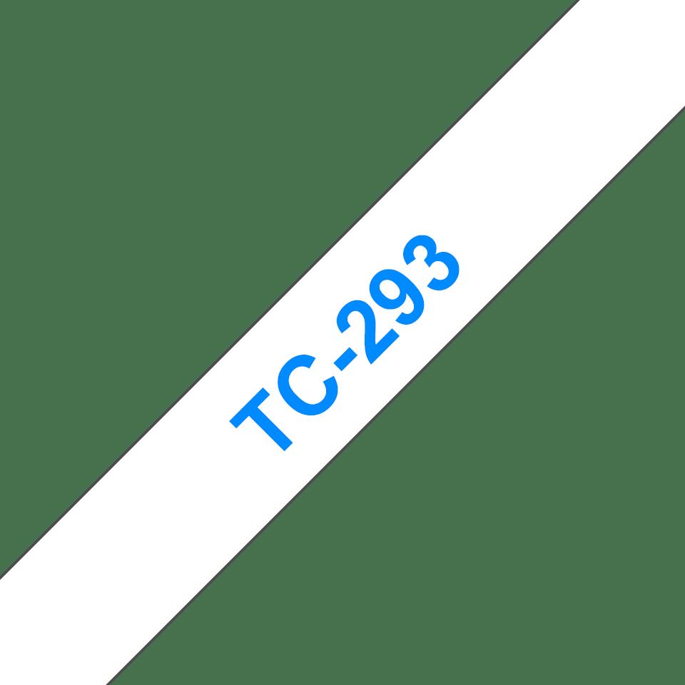 Eredeti Brother TC293 szalagkazetta - fehér alapon kék, 9 mm széles