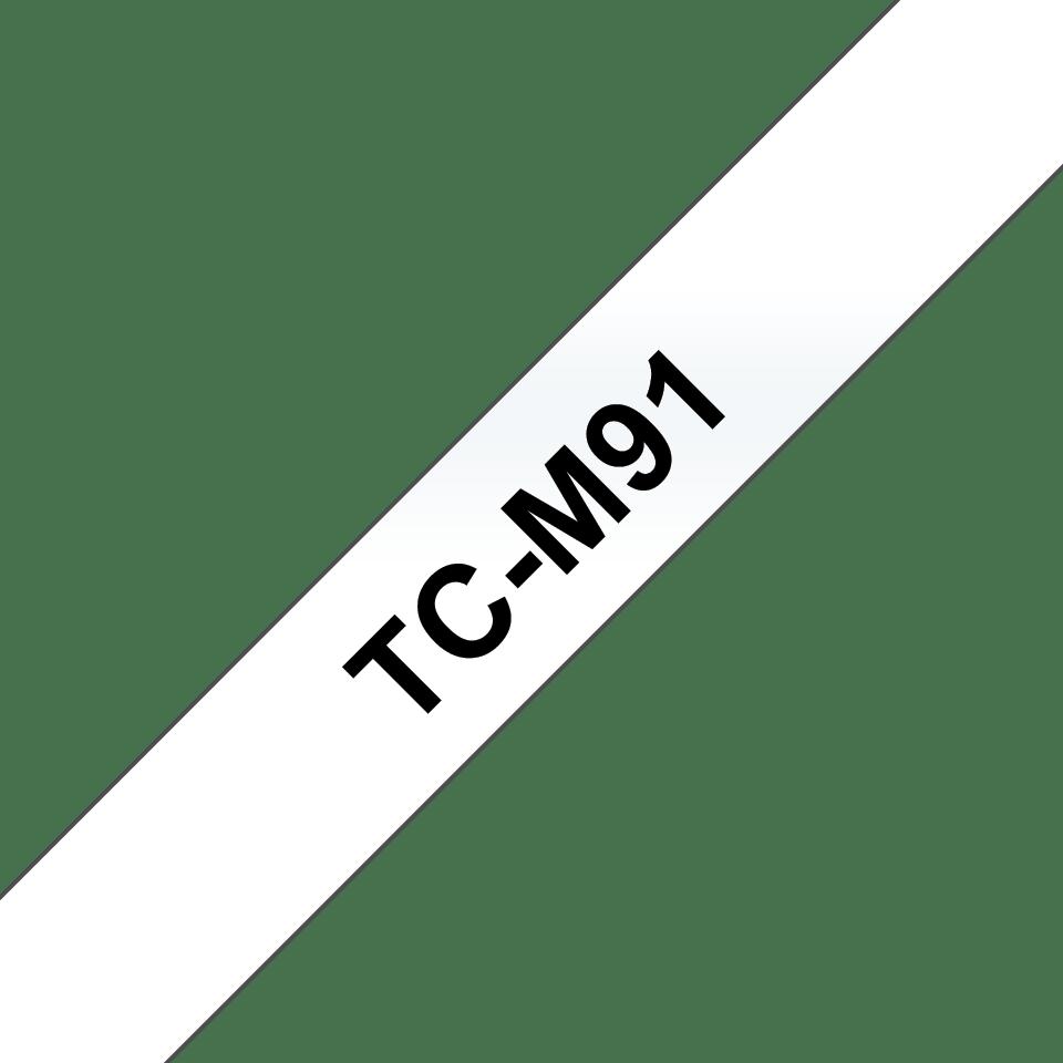Brother TCM91 átlátszó alapon fekete standard laminált ragasztószalag - 9 mm széles