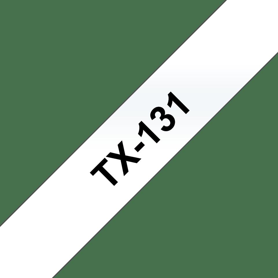 Eredeti Brother TX131 szalagkazetta - átlátszó alapon fekete, 12 mm széles