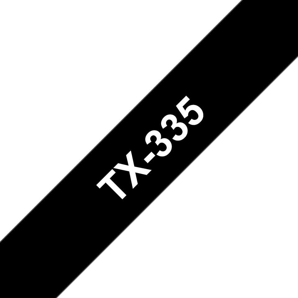 Eredeti Brother TX335 szalagkazetta - fekete alapon fehér, 12 mm széles