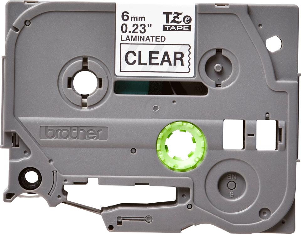 Eredeti Brother TZe111 szalagkazetta - átlátszó alapon fekete, 6 mm széles 2