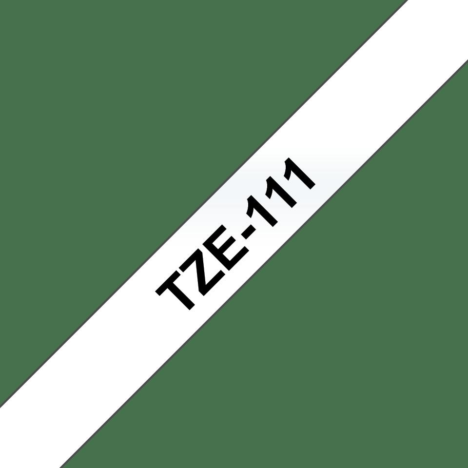 Eredeti Brother TZe111 szalagkazetta - átlátszó alapon fekete, 6 mm széles 3