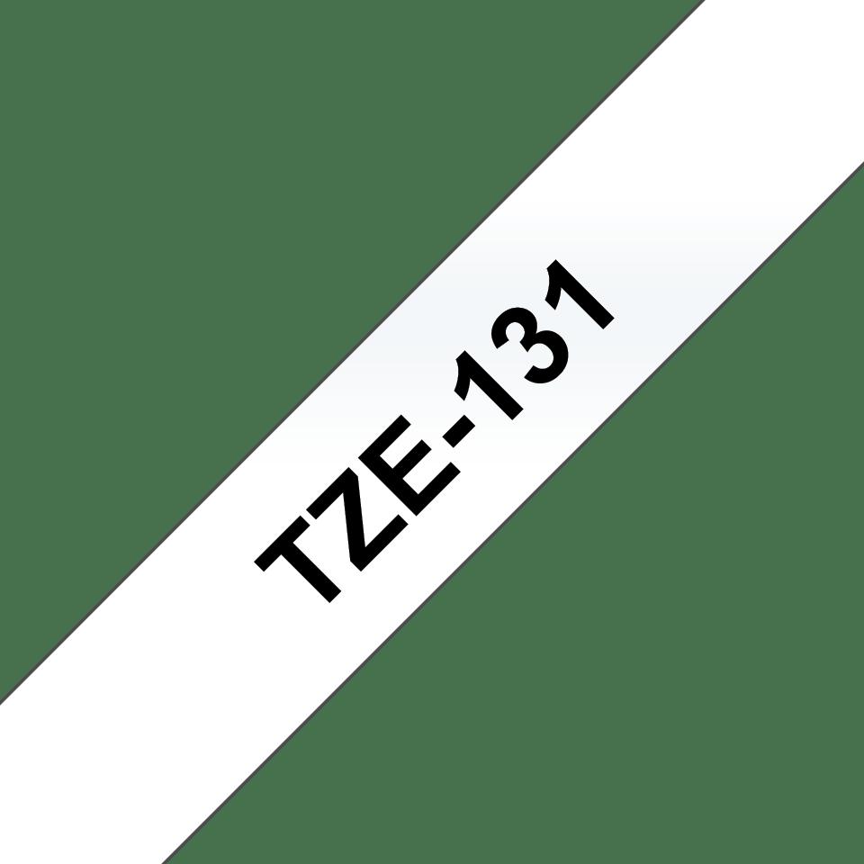 Eredeti Brother TZe-131 laminált szalag – Átlátszó alapon fekete, 12mm széles