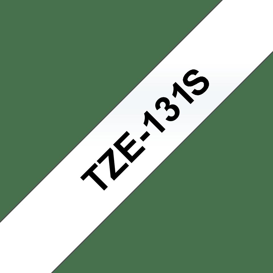 Eredeti Brother TZe-131S  szalag átlátszó alapon fekete, 12mm széles 3