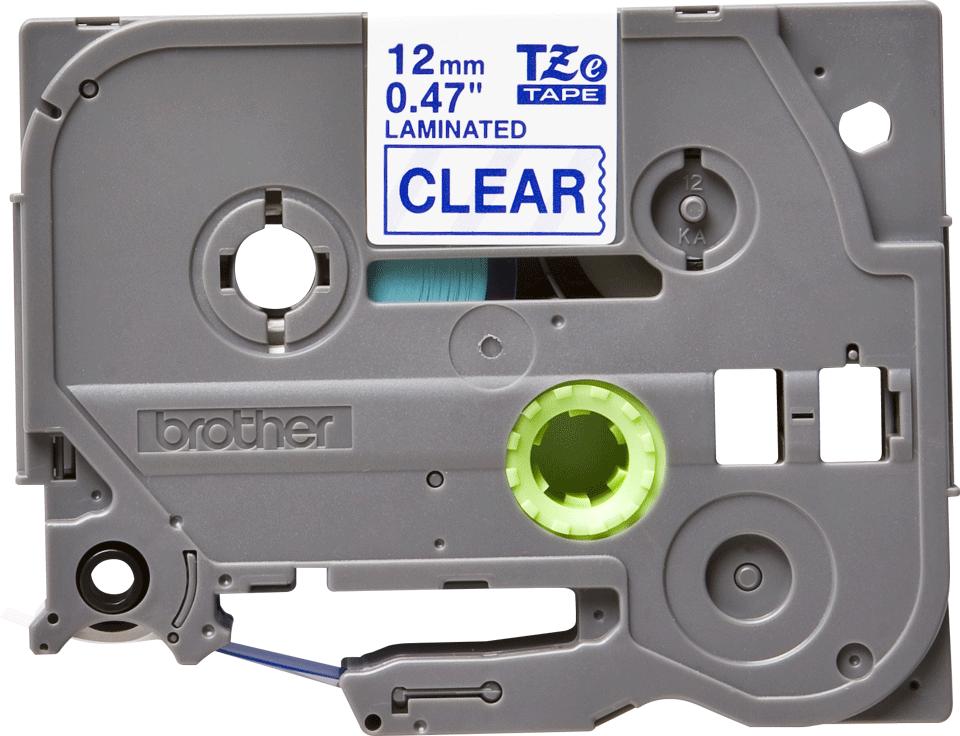 Eredeti Brother TZe-133 laminált szalag – Átlátszó alapon kék, 12mm széles