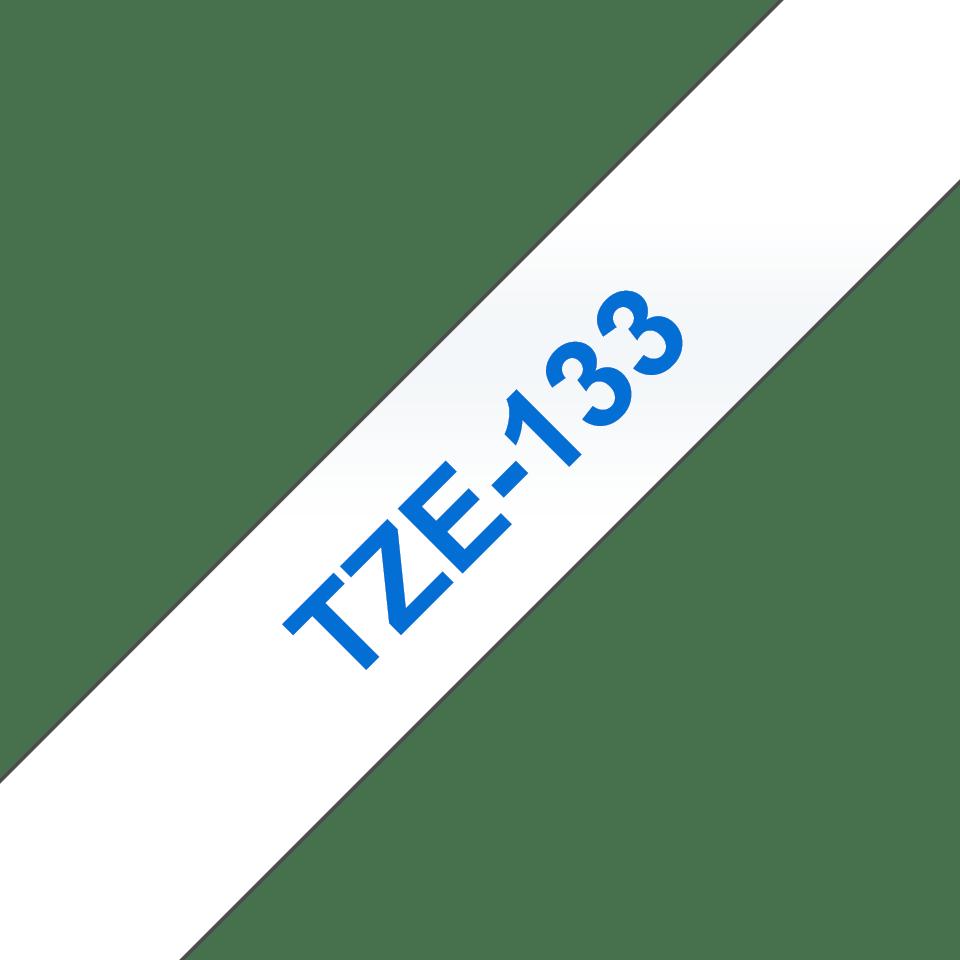 Eredeti Brother TZe-133 laminált szalag – Átlátszó alapon kék, 12mm széles 3