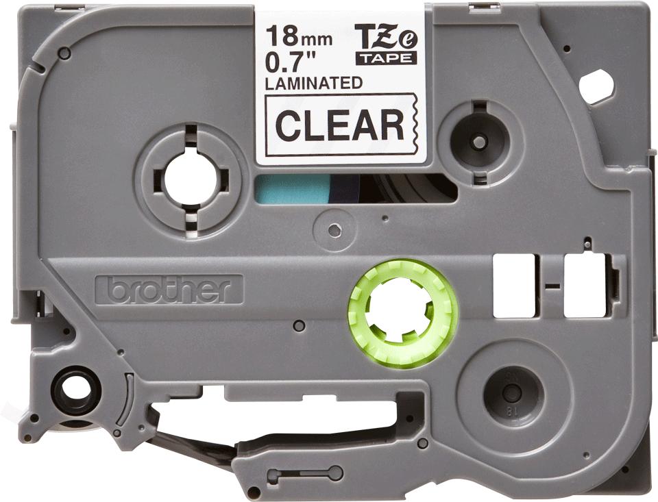 Eredeti Brother TZe-141 laminált szalag – Átlátszó alapon fekete, 18mm széles 2