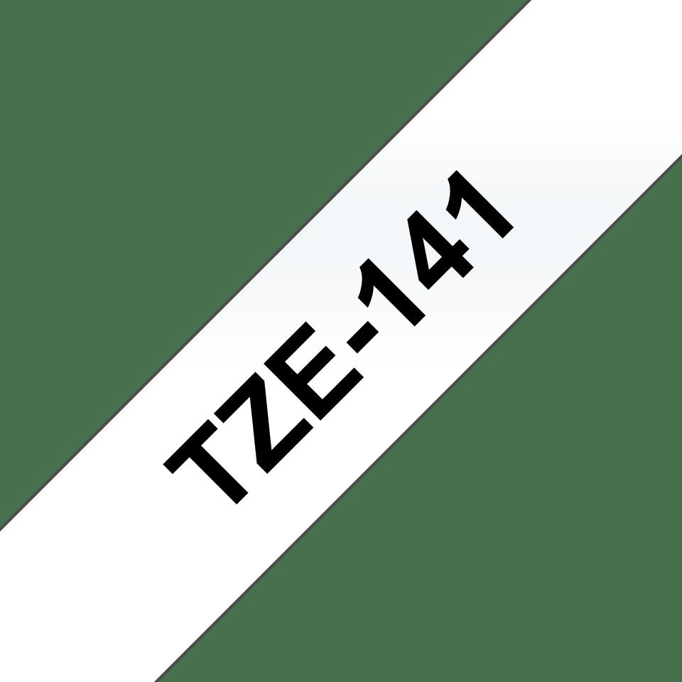 Eredeti Brother TZe-141 laminált szalag – Átlátszó alapon fekete, 18mm széles 3