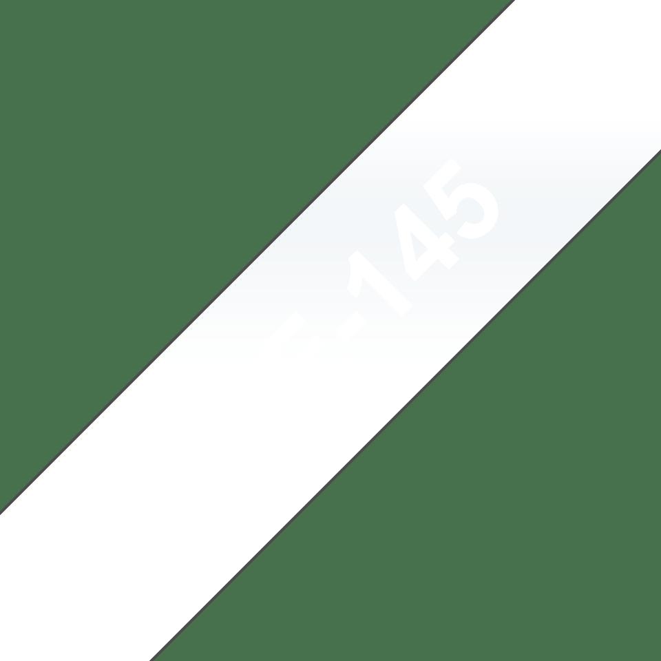 Eredeti Brother TZe-145 laminált szalag – Átlátszó alapon fekete, 18mm széles 3