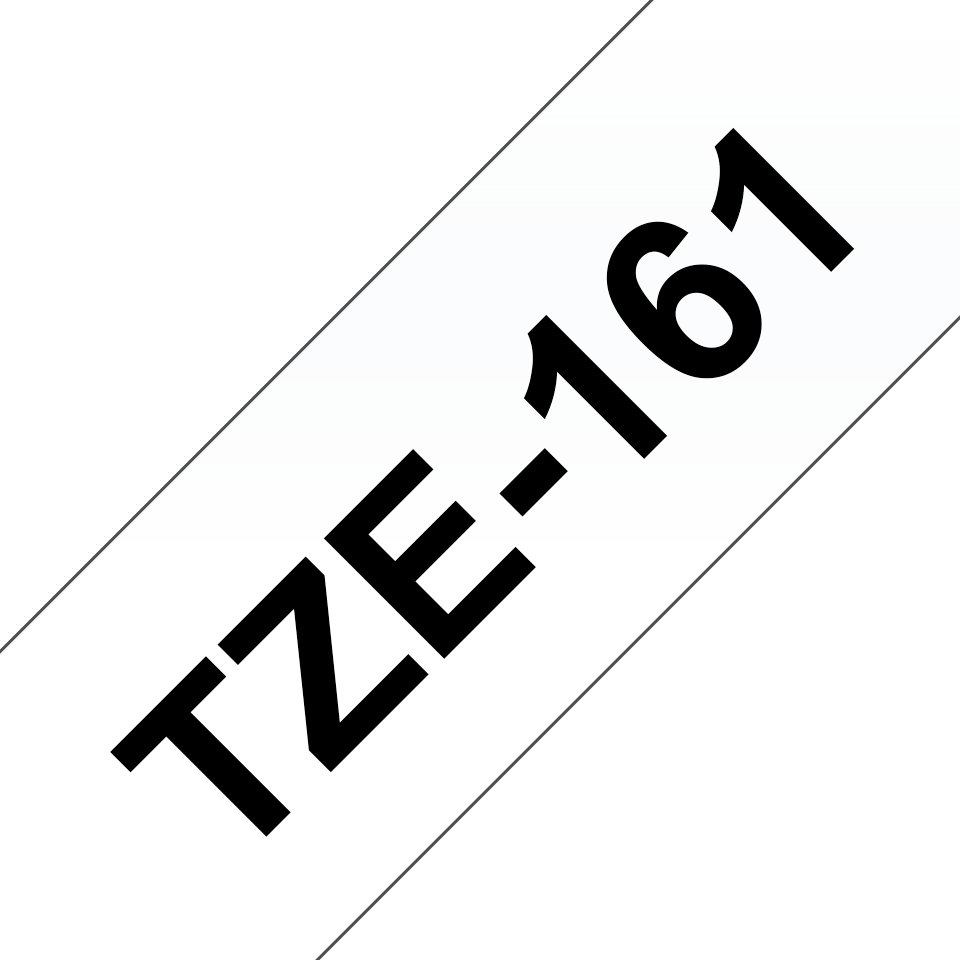 Eredeti Brother TZe-161 laminált szalag – Átlátszó alapon fekete, 36mm széles 3