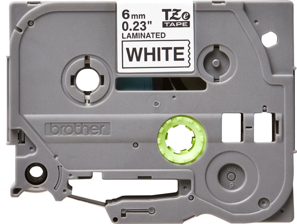 Eredeti Brother TZe-211 laminált szalag – Fehér alapon fekete, 6mm széles