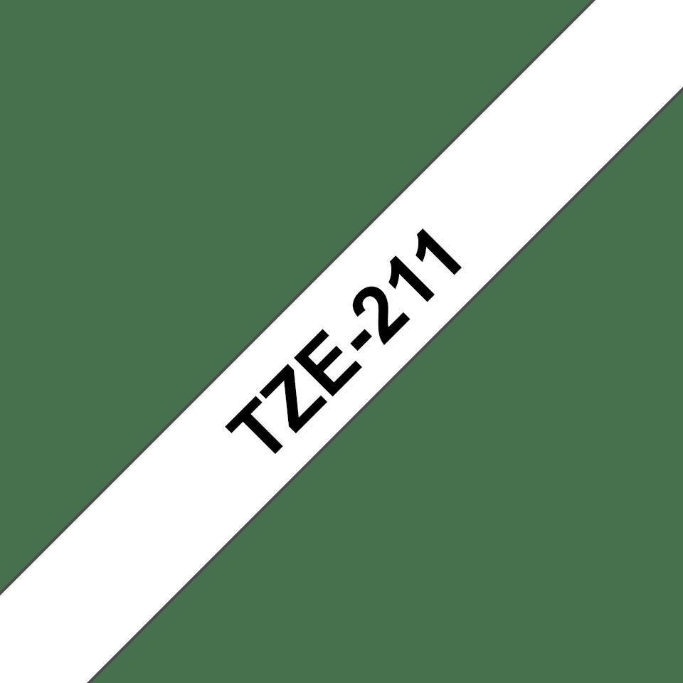 Eredeti Brother TZe-211 laminált szalag – Fehér alapon fekete, 6mm széles 3