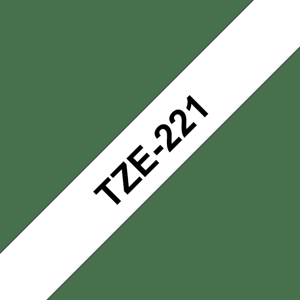 Eredeti Brother TZe-251 laminált szalag – Fehér alapon fekete, 9mm széles 3
