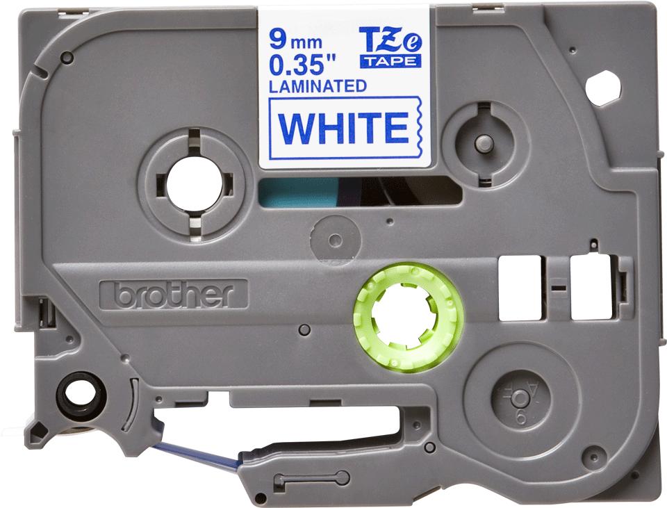 Eredeti Brother TZe-223 laminált szalag – Fehér alapon kék, 9mm széles