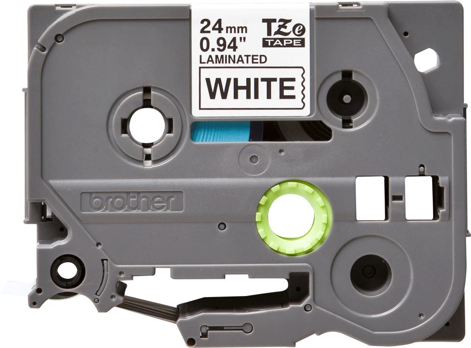 Eredeti Brother TZe-251 laminált szalag – Fehér alapon fekete, 24mm széles