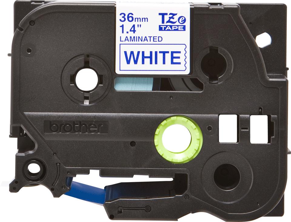 Eredeti Brother TZe-263 laminált szalag – Fehér alapon kék, 36mm széles
