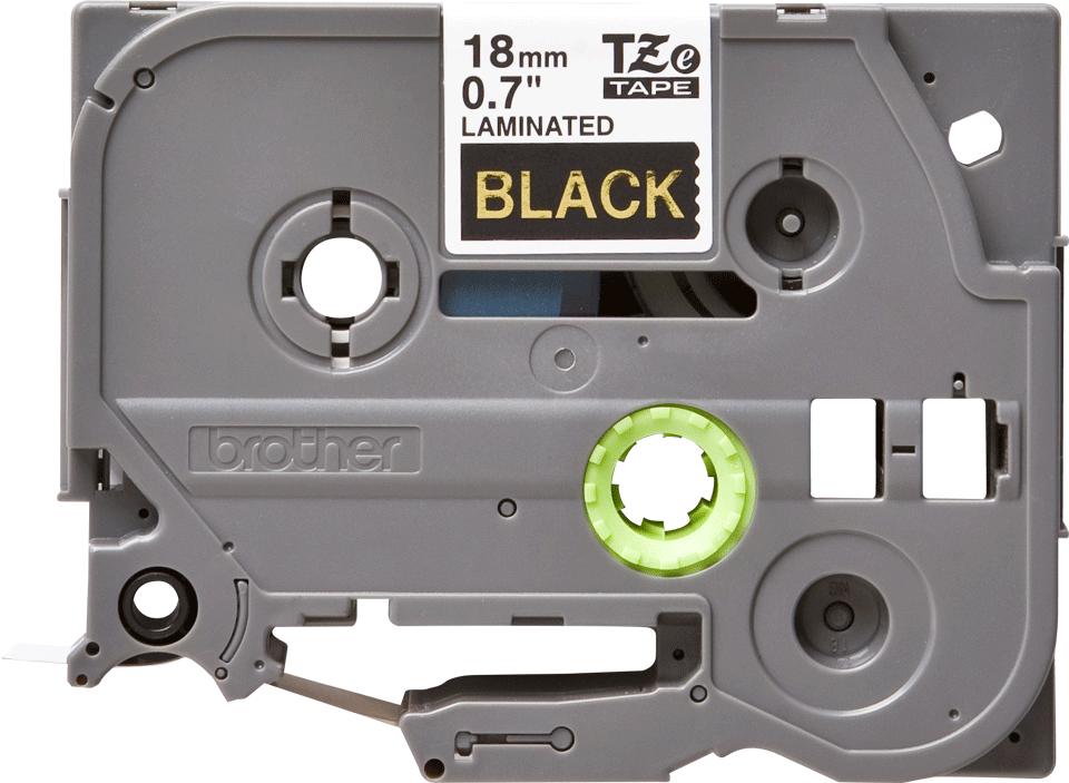 Eredeti Brother TZe-344 szalag – Fekete alapon arany, 18mm széles 2