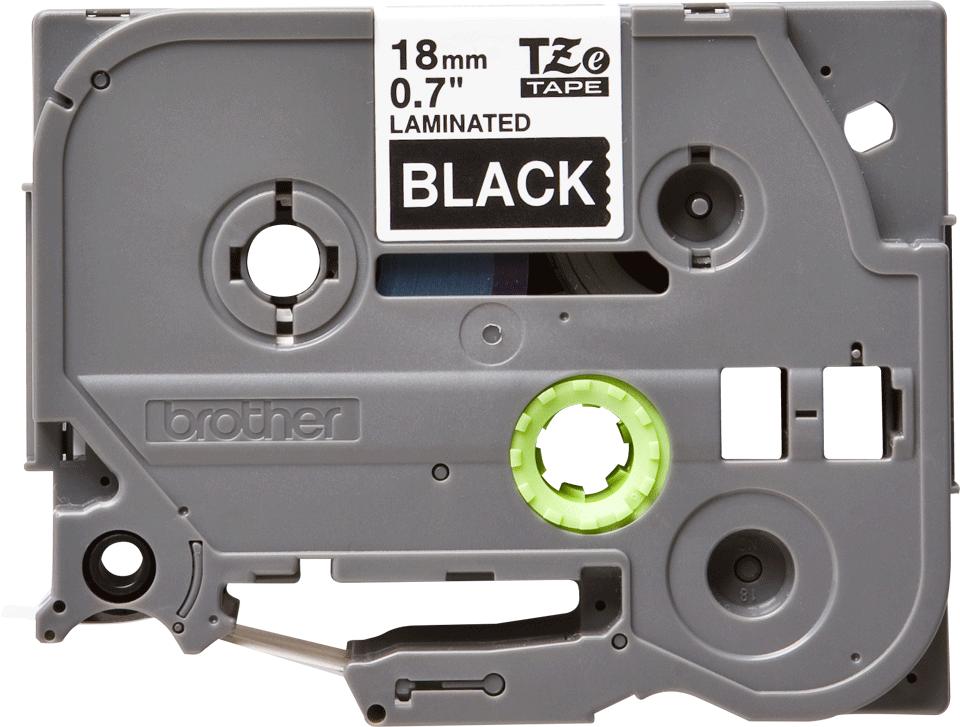 Eredeti Brother TZe-345 laminált szalag – Fekete alapon fehér, 18mm széles