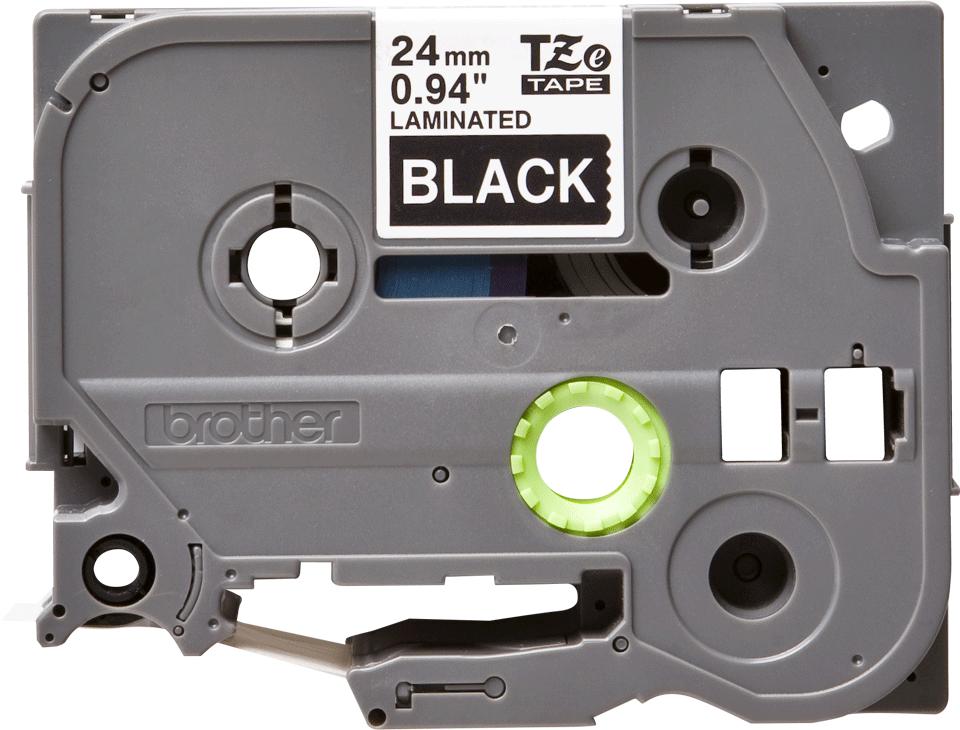 Eredeti Brother TZe-355 laminált szalag – Fekete alapon fehér, 24mm széles 2