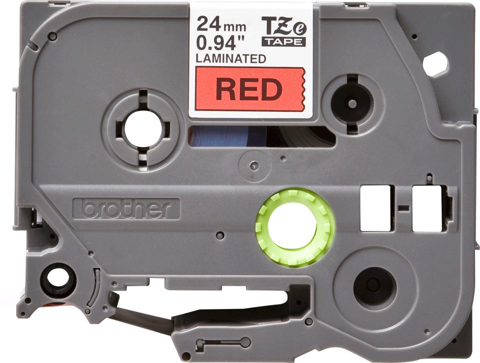 Eredeti Brother TZe-451 szalag –Piros alapon fekete, 24mm széles