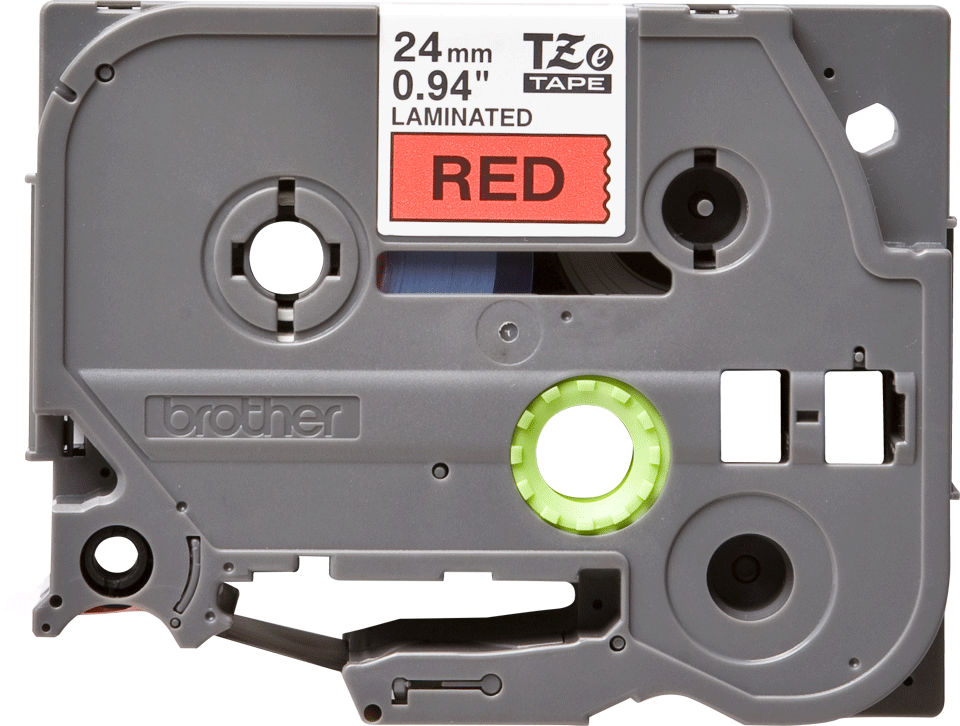 Eredeti Brother TZe-451 szalag – Piros alapon fekete, 24 mm széles 2