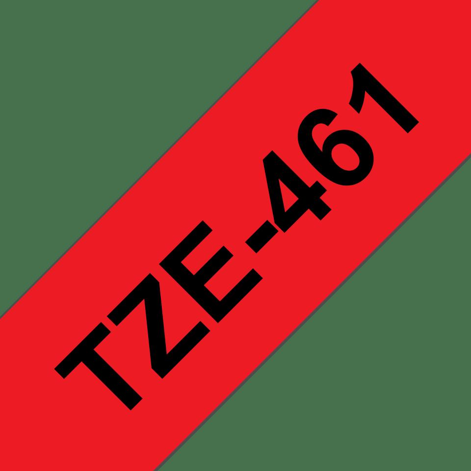 Eredeti Brother TZe-461 laminált szalag – Piros alapon fekete, 36mm széles 3