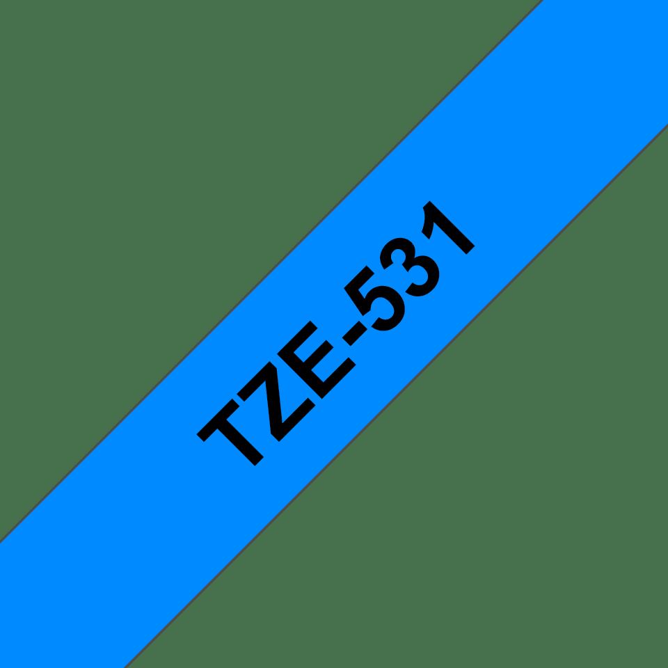 Eredeti Brother TZe-531 szalag – Kék alapon fekete, 12mm széles 3