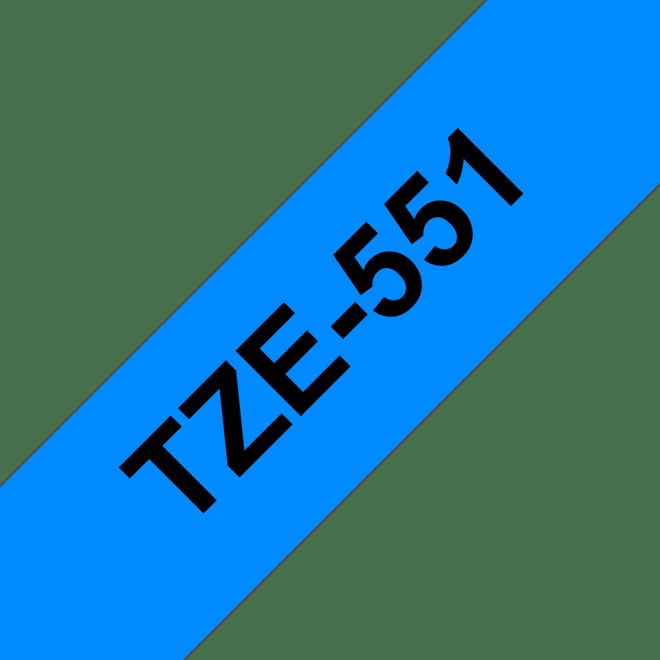 Eredeti Brother TZe-551 szalag – Kék alapon feketeon, 24mm széles