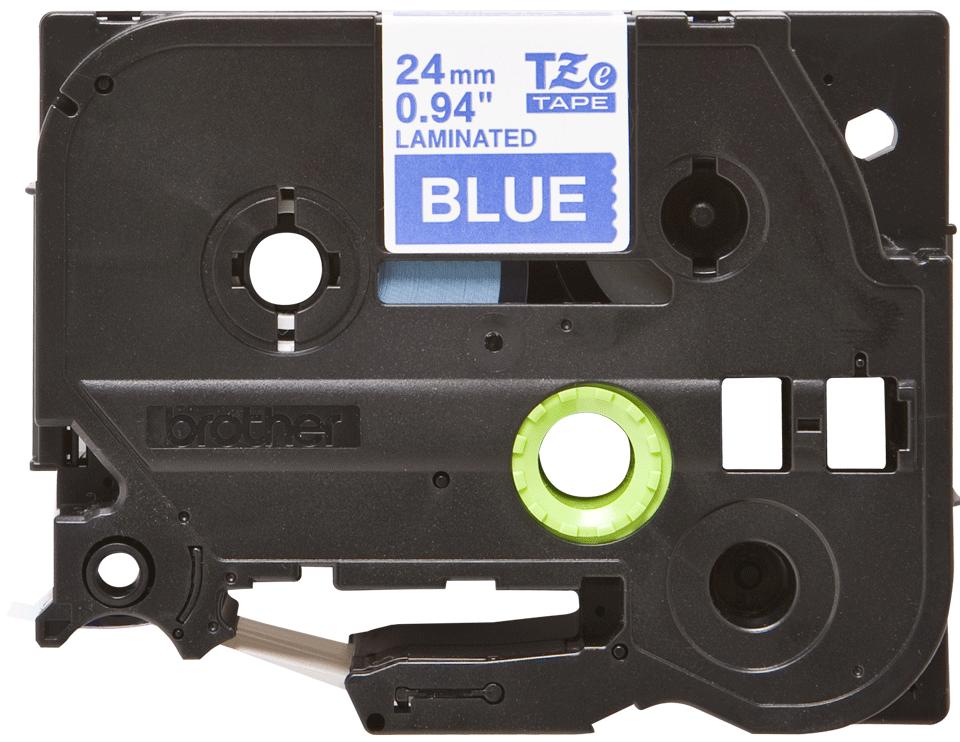 Eredeti Brother TZe-555 szalag – Kék alapon fehér, 24mm széles