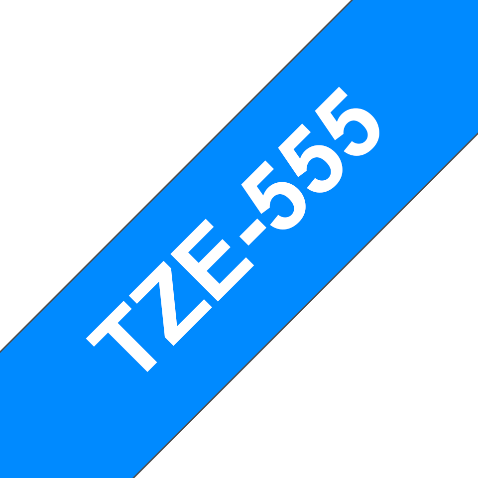 Eredeti Brother TZe-555 szalag – Kék alapon fehér, 24mm széles 3