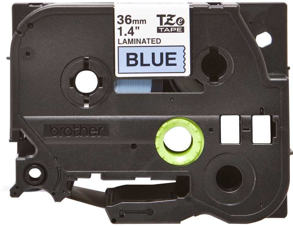 Eredeti Brother TZe-561 Labellilaminált szalag – Kék alapon fekete, 36mm széles
