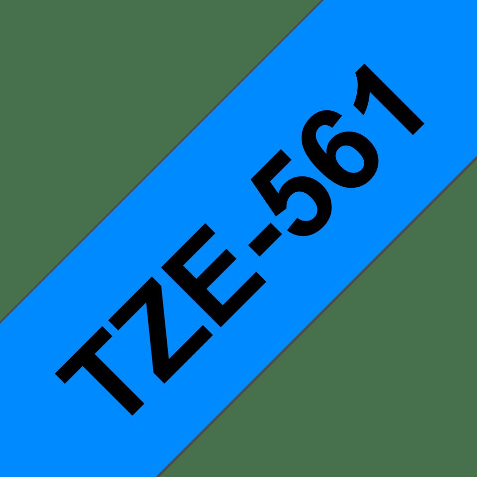 Eredeti Brother TZe-561 Labellilaminált szalag – Kék alapon fekete, 36mm széles 3