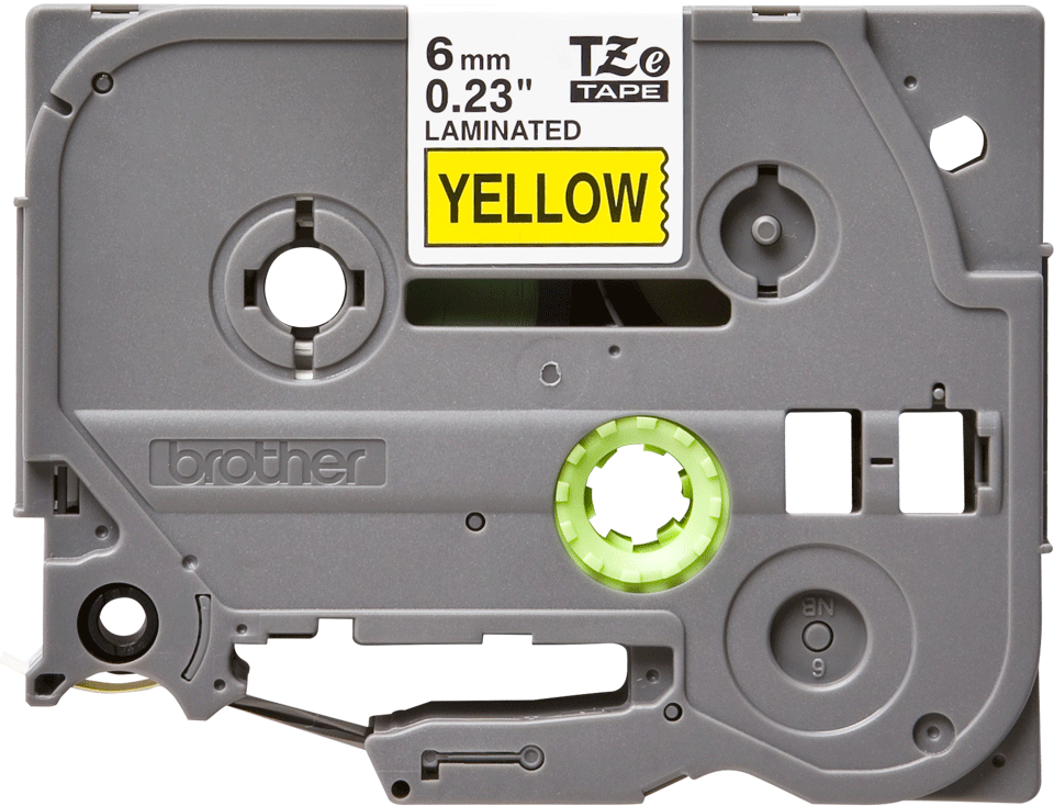 Eredeti Brother TZe-611 szalag – Sárga alapon fekete, 6mm széles